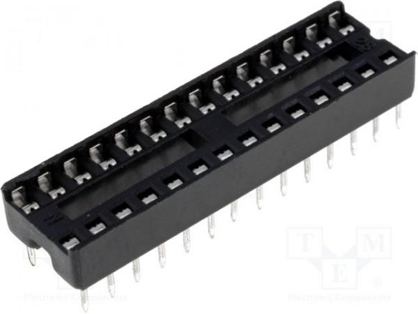 50 Pieces 28-Pin DIL DIP IC Socket PCB Mount connecteur nouveau