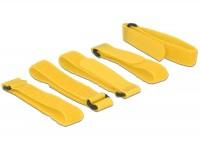 Kabelbinder, Klettverschluss L 300 mm x B 20 mm 5 Stück mit Schlaufe gelb