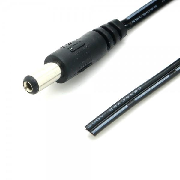 DC Kabel mit Hohlstecker 5,5x2,1mm und offenem Kabelende 30 cm