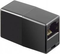 ISDN Adapter, RJ45-Buchse (8P8C) - RJ45-Buchse (8P8C), schwarz