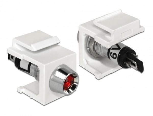 Keystone LED rot 6V, weiß