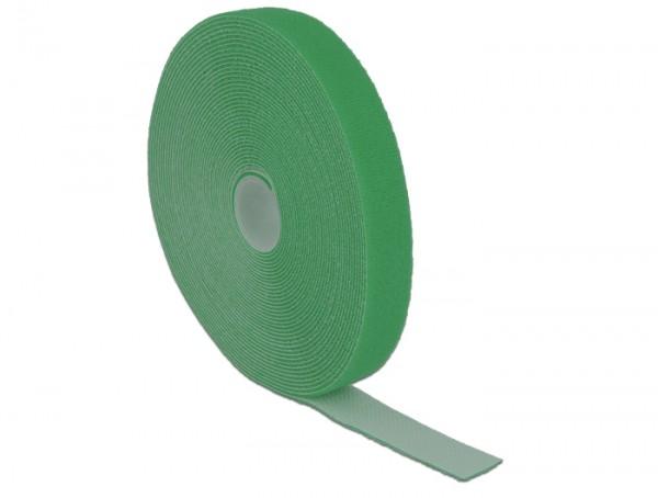 Kabelbinder, Klettverschluss L 10 m x B 20 mm Rolle grün