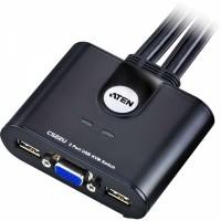 ATEN CS22U 2-fach KVM Switch USB, VGA mit Kabelfernbedienung
