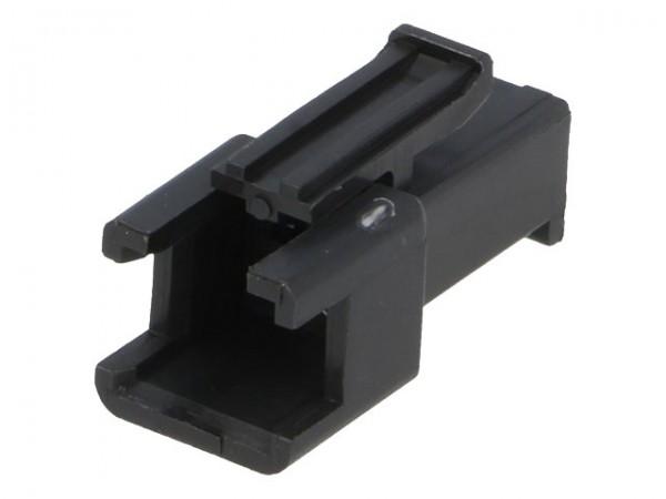 Steckverbinder Gehäuse kompatibel zu JST SMR-02V-B, männlich, 2 Pin, schwarz