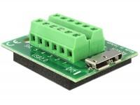 Adapter Terminalblock - Micro USB 3.0 B Buchse