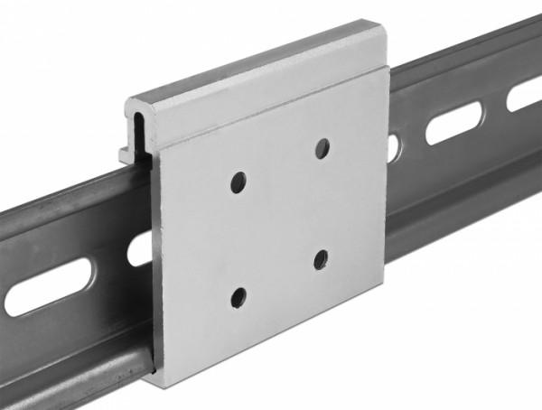 Aluminium Montageclip für Hutschiene, B 54mm