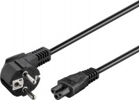 Netzkabel abgewinkelter Schutzkontakt-Stecker - IEC320-C5 Buchse schwarz 3,0m