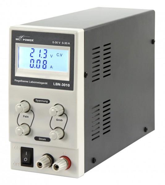 McPower Labornetzgerät LBN-3010, regelbar, 0-30 V, 0-10 A, LC-Anzeige