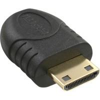 Adapter, Micro HDMI D Buchse - Mini HDMI C Stecker, schwarz