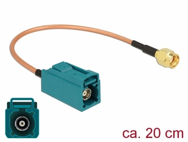 Antennenkabel FAKRA Z Buchse - RP-SMA Stecker RG-316 20 cm