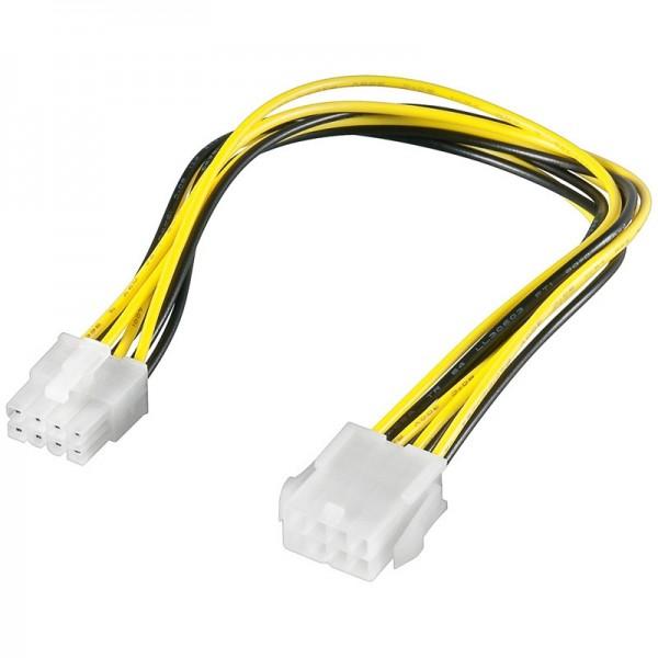 Power Kabel 8 Pin Stecker - 8 Pin Buchse 0,28m