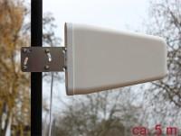 LTE Antenne SMA Stecker 8 - 9 dBi direktional mit Anschlusskabel (RG-58, 5 m) weiß outdoor