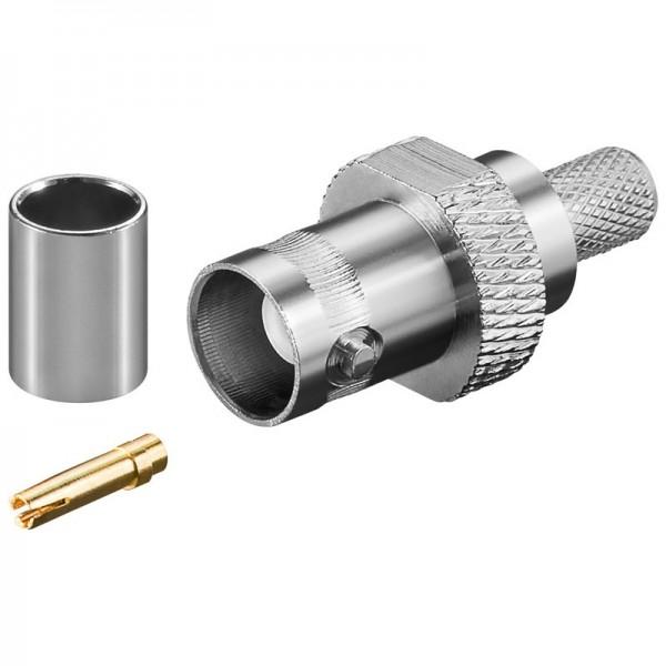 BNC-Crimpkupplung für RG 59/U Kabel mit Gold Pin