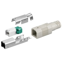 USB B-Stecker - werkzeugfreie Crimpmontage