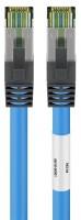 CAT 6A Patchkabel mit CAT 8.1 Rohkabel, S/FTP, LSZH, blau