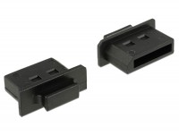 Staubschutz für Displayport Buchse mit Griff 10 Stück schwarz