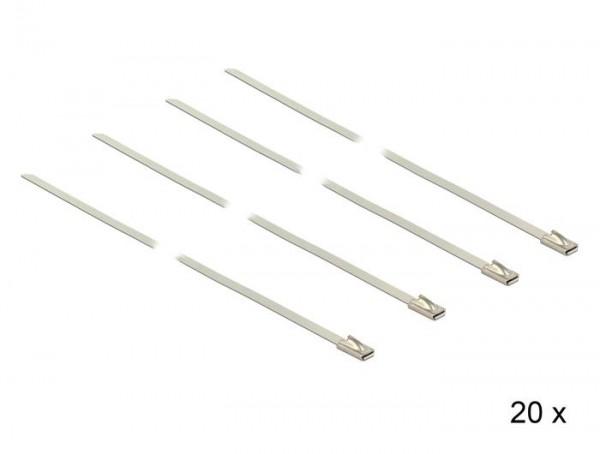 Kabelbinder, Edelstahl, L 350 x B 4,6 mm, 20 Stück