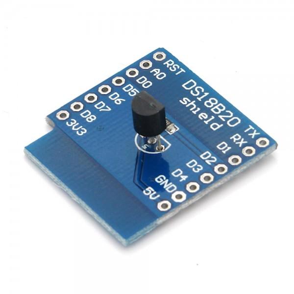 DS18B20 Temperatursensor Shield für D1 Mini