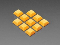 Orange DSA Keycaps für MX-kompatible Schalter, 10er-Pack
