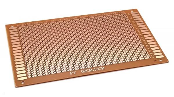 Streifenrasterplatine 9x15cm mit einseitiger Kupferauflage