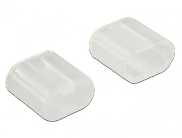 Staubschutz für Lightning Stecker 10 Stück transparent