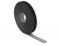 Kabelbinder, Klettverschluss L 5 m x B 13 mm Rolle schwarz