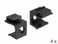 Keystone Abdeckung schwarz mit 8 mm Durchführung 4 Stück