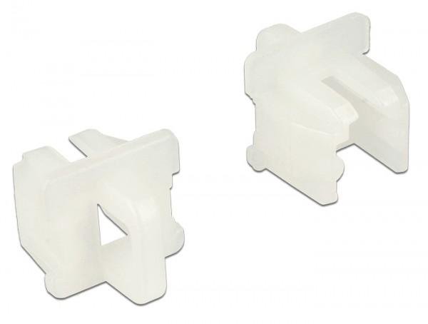 Staubschutz für RJ11 Buchse mit Griff 10 Stück weiß