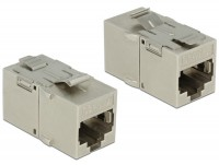 Keystone Modul RJ45 Buchse > RJ45 Buchse Cat.6A Metall