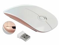 Optische 3-Tasten Maus 2,4 GHz wireless weiß / rosé
