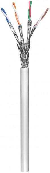 CAT 6 Netzwerkkabel, S/FTP (PiMF), Grau, 100 m - CCA Kupfergemisch, AWG 23/1 (solid), PVC