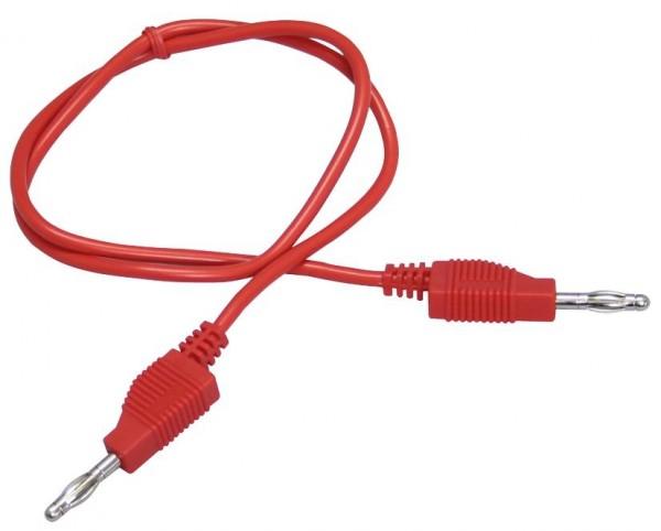 Messleitung, 1mm², PVC, 2x 4mm Bananenstecker, 100cm, rot