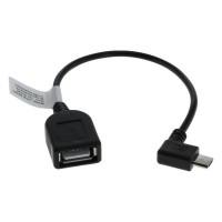 USB 2.0 Hi-Speed OTG Adapterkabel 0,15m A-Buchse > Micro B-Stecker 90° gewinkelt