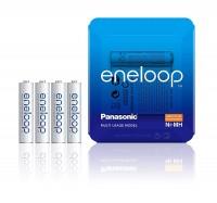 Panasonic eneloop Akku Micro AAA NiMH 750mAh, 4er Storage Case