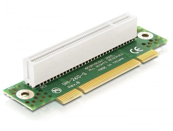 Riser Karte PCI 32 Bit 90° gewinkelt links gerichtet 2HE