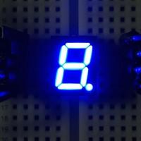 7-Segment-Anzeige, 10mm, gemeinsame Kathode, 60mcd, blau