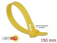 Kabelbinder wiederverwendbar hitzebeständig L 150 x B 7,5 mm 100 Stück gelb