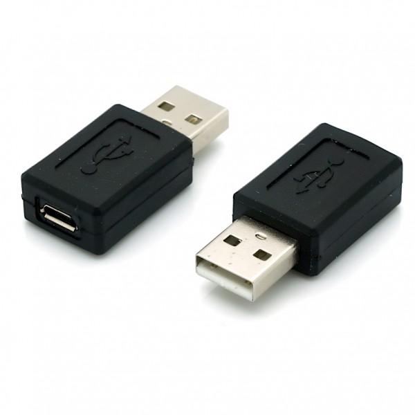 USB 2.0 Hi-Speed Adapter Micro B Buchse - A Stecker schwarz
