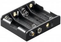 Batteriehalter für 4x Mignon AA mit Druckknopfanschluss