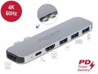 Delock Dockingstation für MacBook Dual HDMI 4K / PD / Hub