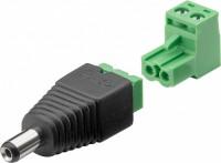 Terminalblock 2-pin > DC-Stecker (5,50 x 2,10 mm) - abnehmbare Schraubbefestigung, 2-teilig