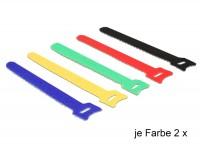 Kabelbinder, Klettverschluss, 150 x 12mm, farbig sortiert, 10 Stück