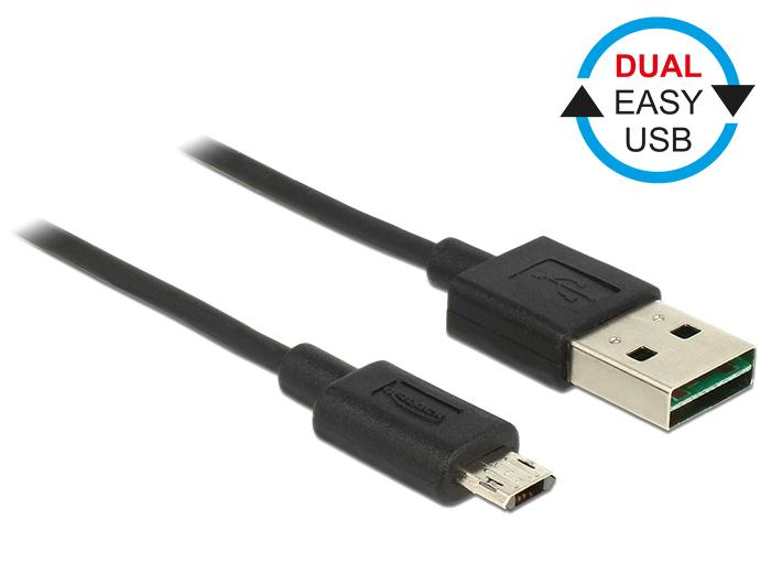 EASY USB 2.0 Kabel A Stecker – micro B Stecker schwarz jetzt