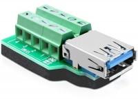Adapter USB 3.0-A Buchse - Terminalblock 10 Pin
