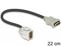 Keystone HDMI Buchse > HDMI Buchse 250° mit Kabel