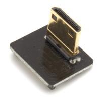 Mini HDMI Typ C Stecker, rechts gewinkelt, für DIY HDMI Kabel