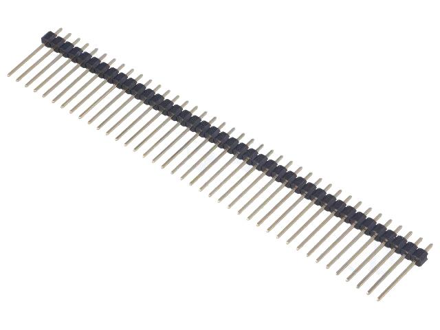 5x Buchsenleiste 40 Pin gewinkelt 2,54mm stapelbar weiblich Pin Header female