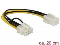 Stromkabel PCI Express 6 Pin Buchse > 8 Pin Stecker