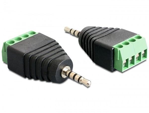 Adapter Terminalblock - Klinkenstecker 2,5mm 4 Pin