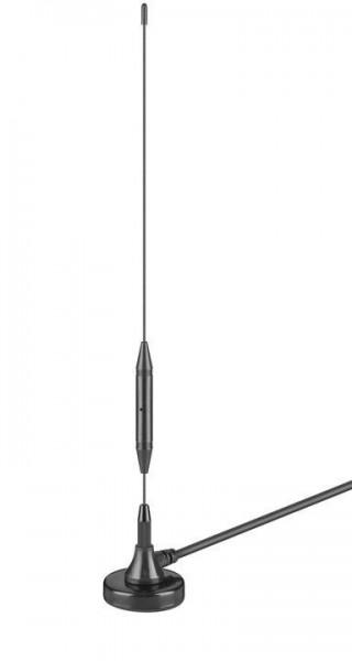 Passive DVB-T2 Zimmerantenne, 3dB, schwarz
